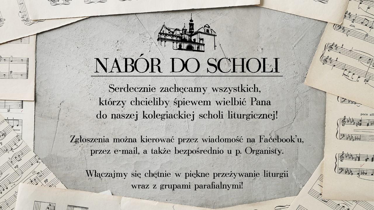 Nabór do scholi